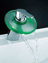 Contemporary Centerset LED Antique Brass , Shower Faucet