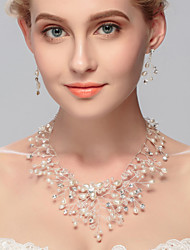 cheap -Women's Imitation Pearl Jewelry Set - Others Silver