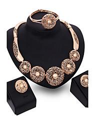 baratos -Conjunto de jóias - Rosa Folheado a Ouro Vintage, Festa, Fashion Incluir Ouro Rose Para Festa Ocasião Especial Aniversário