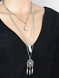 cheap -Women's Crystal Crystal Pendant Necklace - Fashion European Moon Necklace For Party Daily Casual