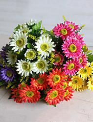 Недорогие -12 голов высокого качества маргаритки цветы шелк цветок искусственные цветы для свадебного украшения дома 1шт / комплект