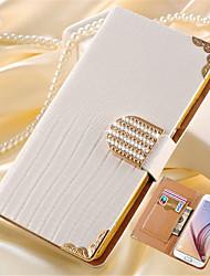 economico -Custodia Per Samsung Galaxy Porta-carte di credito / Con diamantini / Con supporto Integrale Tinta unita Resistente pelle sintetica per S8 Plus / S8 / S6 edge plus