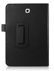 billiga -fodral Till Samsung Galaxy / Fliken S2 8,0 med stativ / Automatiskt sömn- / uppvakningsläge / Lucka Fodral Enfärgad Hårt PU läder för