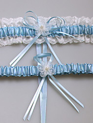 Lace Satin Wedding Garter with Lace Flower
