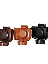 dengpin® PU-Leder-Kamera-Kastenbeutelabdeckung für Olympus E-m10 mark ii EM10 mark2 (14-42mm ez Linse (verschiedene Farben)