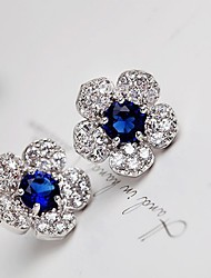 cheap -Women's Stud Earrings Drop Earrings Fashion European Costume Jewelry Cubic Zirconia Platinum Plated Alloy Jewelry For