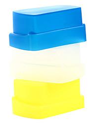 nuovo silicone flessibile flash di rimbalzo diffusore softbox bianco + giallo + blu per Nikon SB800 / SB600 YN-460 YN-465 YN-467 YN-468