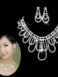 cheap -Women's Rhinestone Wedding Party Special Occasion Anniversary Birthday Engagement Gift Alloy Earrings Necklaces