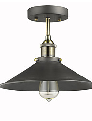 cheap -Max 60W Vintage Mini Edison Ceiling Light 1-Light,Dining Room / Study Room/Office / Hallway Metal Flush Mount