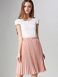 cheap -Women's Casual A Line Skirts - Solid Colored