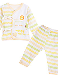 cheap -Baby Unisex Clothing Set, Cotton All Seasons Long Sleeves Gray Yellow