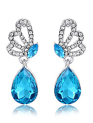 cheap -Women's Crystal Drop Earrings - Crystal Green / Blue / Lavender For Wedding / Party / Daily