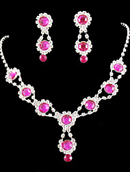 baratos -Mulheres Conjunto de jóias Brincos Colares - Regular Outros Prateado Para Casamento Festa Ocasião Especial Aniversário Noivado Presente