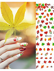 cheap -1 pcs Flower / Abstract / Wedding Water Transfer Sticker / Other Decorations Daily