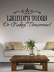 cheap -Laundry Today Or Naked Tomorrow Vinyl Wall Decal Lettering Quotes Saying Room Decor Wallstickers Paper