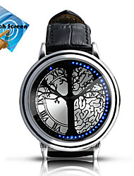 cheap -Men's Smart Watch Fashion Watch Digital Touch Screen LED Leather Band Charm Multi-Colored
