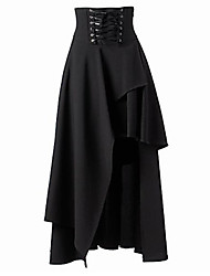 cheap -Women's Going out Asymmetrical Skirts,Sexy Street chic A Line Layered Solid Fall