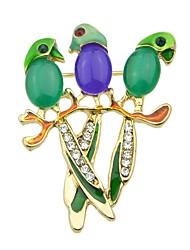 Multicolors мило попугай маленький брошь корея