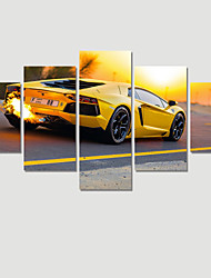 (No Frame) 5 Piece Sports Car Modern Home Wall Decor Canvas Picture Art HD Print Painting On Canvas For Wedding Decor