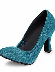 cheap -Women's Dance Shoes Latin / Modern / Salsa / Samba Sparkling Glitter Heel Blue Customizable
