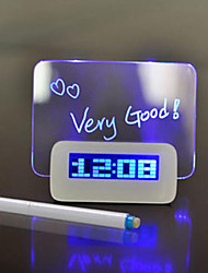 cheap -Creative  LED Light Fluorescent Message Board Alarm Clock Digital Calendar
