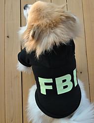 preiswerte -Hund Kapuzenshirts Hundekleidung Lässig/Alltäglich Buchstabe & Nummer Schwarz Rot Kostüm Für Haustiere