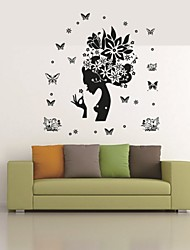 cheap -Animals People Still Life Romance Fashion Shapes Vintage Holiday Cartoon Leisure Fantasy Wall Stickers Animal Wall Stickers Decorative