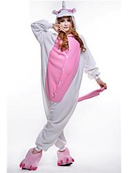 kigurumi Pyjamas New Cosplay® Unicorn Costume Rose Polaire Collant / Combinaison Fête / Célébration Pyjamas Animale Halloween Mosaïque