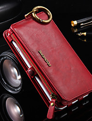 For iPhone 8 iPhone 8 Plus iPhone 6 iPhone 6 Plus Case Cover Card Holder Wallet with Stand Full Body Case Solid Color Hard PU Leather for