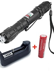 LS1669 Powerful 5miles 532nm Green Laser Pointer Strong Pen 8000m Laser Pointer+18650 Battery+US Charger