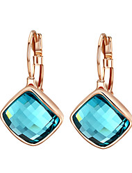 cheap -Women's Crystal Earrings - Cubic Zirconia Vintage, Party, Work Purple / Blue For Wedding Party Gift
