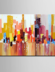Mini Size E-HOME Oil painting Modern Color Abstract Building Pattern Pure Hand Draw Frameless Decorative Painting