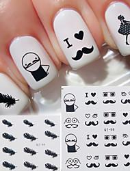 abordables -12 pcs Calcomanías de Uñas 3D arte de uñas Manicura pedicura Moda Diario / Pegatinas de uñas 3D