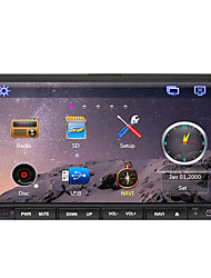 abordables -7 pulgada 2 Din Windows CE 6.0 / Windows CE En tablero reproductor de DVD Bluetooth Integrado / GPS / iPod para Apoyo / RDS