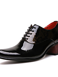 Men's Oxfords Spring Summer Fall Winter Comfort Nappa Leather Wedding Office & Career Casual Party & Evening Metallic toe Black