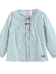 preiswerte -Mädchen Hemd Baumwolle Frühling / Herbst Blau