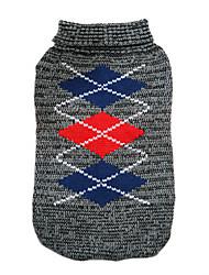 abordables -Perro Suéteres Ropa para Perro Geométrico Gris Rosa Algodón Disfraz Para mascotas Hombre Mujer Moda