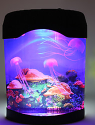 New Home Decor Jellyfish Tank Light Sea World Swimming Mood Lamp Nightlight MultiColor LED High Quality