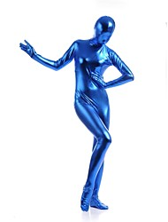 economico -Costumi zentai lucidi Ninja Costumi Zentai Costumi Cosplay Blu Tinta unita Calzamaglia/Pigiama intero Costumi Zentai Elastene Metallizzato