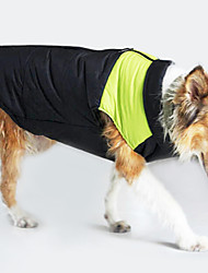 cheap -Dog Coat Vest Dog Clothes Keep Warm Windproof Color Block Yellow Green Blue Pink Costume For Pets
