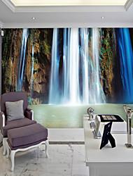 JAMMORY Large Mural Blue Landscape Waterfall TV Background Wall Wallpaper Wall Cloth Abstract Simplicity XL XXL XXXL