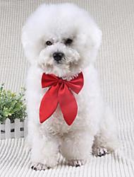 baratos -Cachorro Gravata/Gravata Borboleta Roupas para Cães Laço Preto Vermelho Vinho Terylene Ocasiões Especiais Para animais de estimação