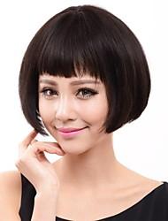 moda europee e americane di alta qualità bobo parrucca capelli lisci naturali neri umana