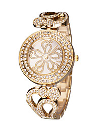 cheap -Women's Wrist Watch Japanese Hollow Engraving / Imitation Diamond Stainless Steel Band Elegant / Fashion Silver / Gold / Rose Gold