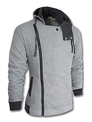 cheap -Men's Plus Size Hoodie Jacket - Solid
