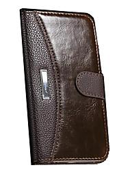 economico -Custodia Per Samsung Galaxy Samsung Galaxy S7 Edge A portafoglio / Porta-carte di credito / Con supporto Integrale Tinta unita pelle sintetica per S7 edge / S7