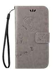economico -Custodia Per HTC Custodia HTC A portafoglio / Porta-carte di credito / Con supporto Integrale Farfalla Resistente pelle sintetica per