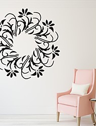 Romantik / Mode / Blumen Wand-Sticker Flugzeug-Wand Sticker,PVC S:35*35cm/ M:42*42cm L:55*55cm