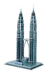 Quebra-cabeças Quebra-Cabeças 3D Blocos de construção DIY Brinquedos edifícios famosos Papel Azul Modelo e Blocos de Construção