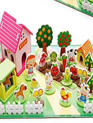 Quebra-cabeças Brinquedo Educativo Blocos de construção Brinquedos Faça Você Mesmo Madeira